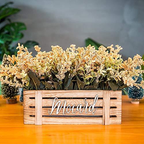 Jnseaol Kunstblumen Gefälschte Blume DIY Kreativer Parteiausgangsdekorationsbretterzaun-Topf Golden-02