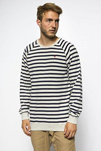 ... Cleptomanicx Herren Sweatshirt weiß/blau