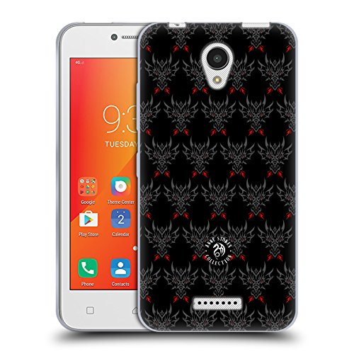 Official Anne Stokes Tribal Dragon Head Motif Patterns Soft Gel Case for Lenovo A Plus
