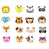 ED-Lumos Set von 16 Schaumtiere Masken für Geburtstagsfeier Kinder Kinder Geschenke 16 Assorted