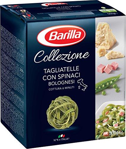 Barilla Pasta Nudeln La Collezione Tagliatelle con Spinaci, 500 g Spinat-pasta-sauce