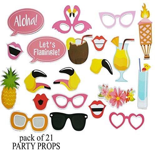 nt Sommer Flamingo Requisiten Fotokabine Party Spaß Hochzeit-Geburtstag Partei Feier (Prom-dekoration-kits)