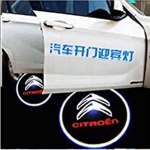 Bestmay 2 faros LED inalámbricos para puerta de coche con logotipo de Citroen