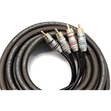 Krystal Kable 4canali 5m Twisted, OFC, tripla schermatura cavo RCA 5metri - Accenti Fumo