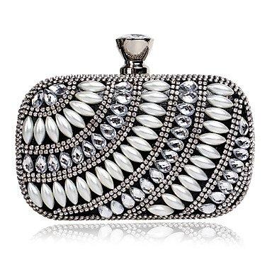 pwne L. In West Frauen ' S Das Elegante Luxushotel Handgefertigten Perle Diamanten Abend Tasche Black