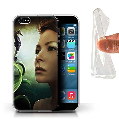 Officiel Elena Dudina Coque / Etui Gel TPU pour Apple iPhone 6S+/Plus / Sous-Marin Design / Agua de Vida Collection Mer Profonde/Hippocampe
