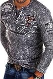 MT Styles Vintage Longsleeve VT-BLUE T-Shirt R-0763 [Grau, L]