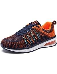 Unisex Zapatos Deportivos Air Zapatillas Running Plano Gimnasia Deportiva Sneakers Fitness Cordones Color Mixto...