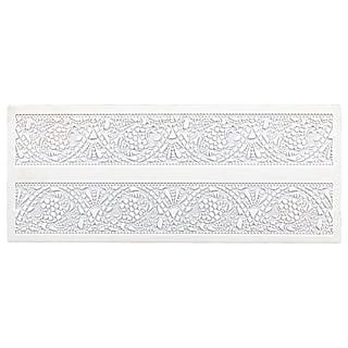 Städter Bordüren-Matte Jugendstil Backform, Silikon, weiß, 39,5 x 16,5 cm