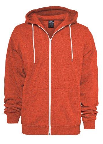 Preisvergleich Produktbild Urban Classics Melange Zip Hoody, red, Größe L