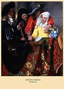 JOHANNES VERMEER Poster Reproduction-La Procuress c1656 à 200 g/m² Brillant Format A3 (faible) Art