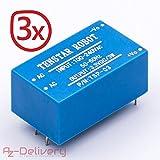 AZDelivery ⭐⭐⭐⭐⭐ 3 x 220V zu 3,3V Mini-Netzteil für Arduino und Raspberry Pi