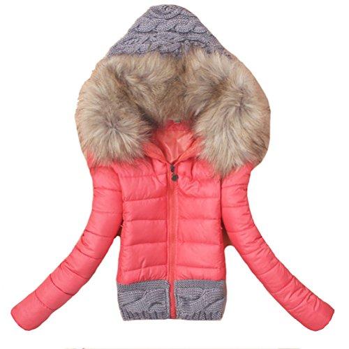 Brinny Damen Herbst Winter Jacke Parka Mantel Winterjacke Outdoor Rot