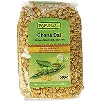 Rapunzel Chana Dal, Kichererbsen halb, geschält, 3er Pack (3 x 500 g)