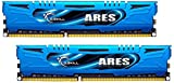 G-Skill Ares F3-2400C11D-8GAB 8 GB (4 GB x 2) DDR3-2400 Non-ECC Memory Modules with Low Profile Heat Spreader - Blue