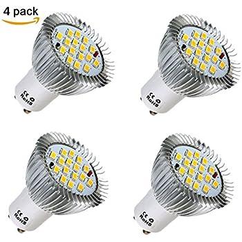 KINGSO 4 Pack GU10 Spot Ampoule 6W 16smd Blanc Chaud 3000K 500LM Lampe Mais 85-265V, Equivalente à Incandescence 50Watt, 120° Larges Faisceaux - Lot de 4