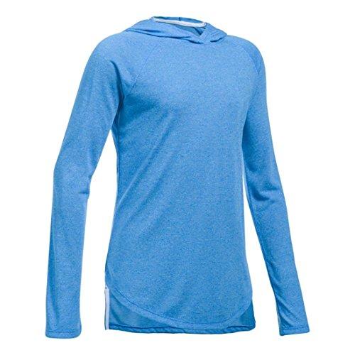 Under Armour Threadborne Mädchen-Sweatshirt, Rosa, Mädchen, 1298856, Mako Blue (983)/White, Youth X-Large