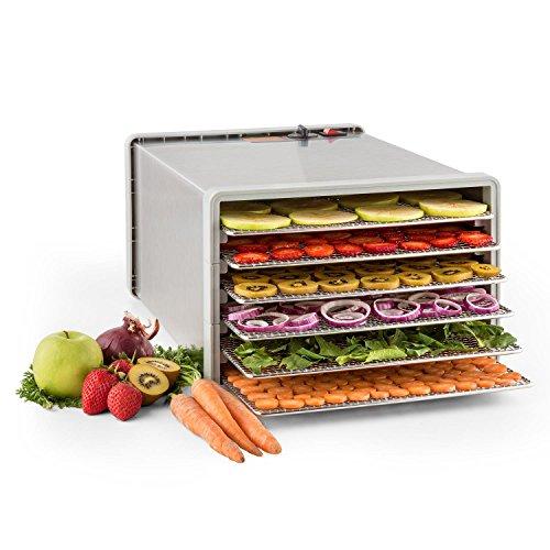 klarstein-fruit-jerky-pro-6-automatic-food-dehydrator-food-dryer-630-w-6-stackable-trays-adjustable-