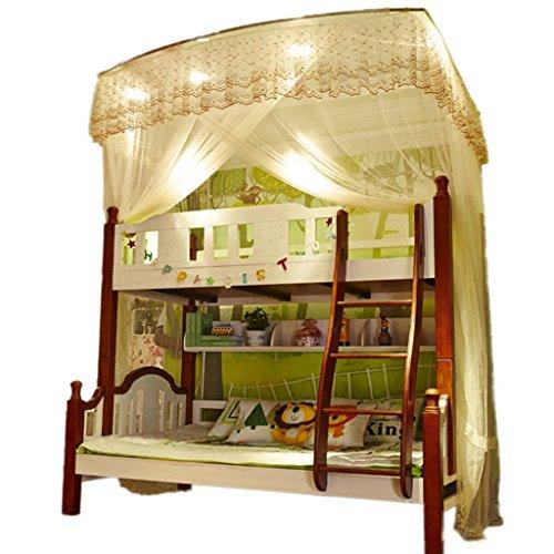 Tenda zanzariera per letto a castello tenda a baldacchino tende a scomparsa installazione rapida anti-insetti bites screen home deco full size ( colore : rosa , dimensioni : 1.35m (4.5ft)-b )