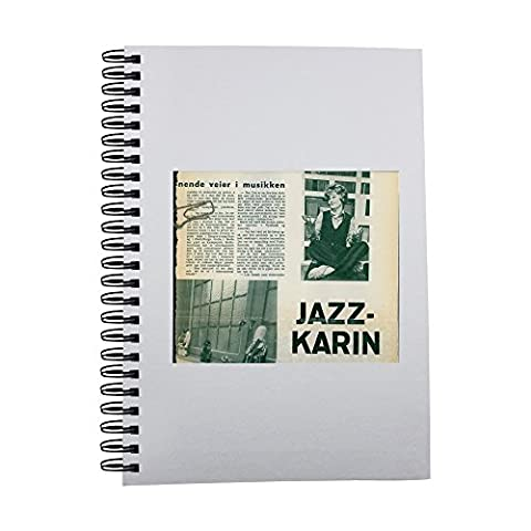 Notebook with Magazine article about jazz singer Karin