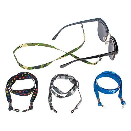 Soleebee 4 Stück Universal Cotton Brillen Ketten Brillenband/Brillenkette / Brillen Cord/Sonnenbrille kette Hals Lanyard/Brillenhalter Hals Cord Strap