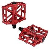 TXJ Cuscinetto a sfere pedali per City/bici della strada/scatto fisso bicicletta/mountain bike (MTB) (rosso), 2 pezzi
