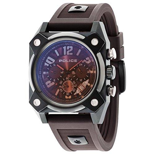 Police Herren Multi Zifferblatt Quarz Uhr mit Silikon Armband PL14690JSB.12AP