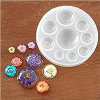 Molde de silicona con 9 agujeros de Kemai para hacer joyas, jabón, manualidades,