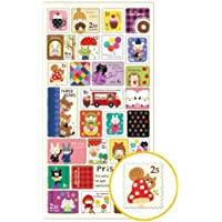 Graciosas pegatinas sello animal personaje colores de Mind Wave