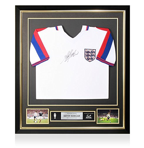 PRE-FRAMED-Kevin-Keegan-Official-UEFA-EURO-1976-Signed-England-Shirt