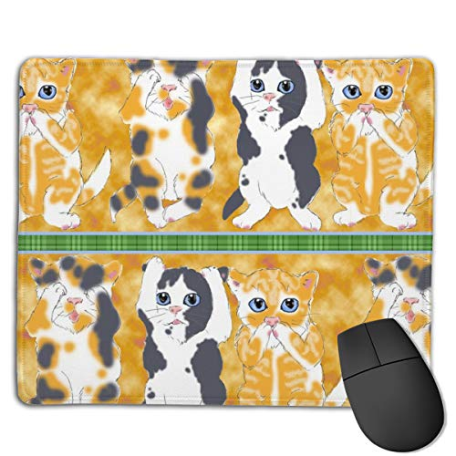 Three Good Little Kittens, Half Brick Computers Thick Keyboard Non-Slip Rubber Base Mouse pad Mat 7 X 8.6 inch (Brick Pc)