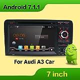 32GB 2GB Android 7.1Doppel DIN Autoradio für Audi A3CD DVD Player Autoradio GPS Bluetooth 1024* 600Head Unit unterstützt Bose System FastBoot Spiegel Link DAB + Subwoofer WLAN AV OUT SWC AUX frei Canbus & Kamera