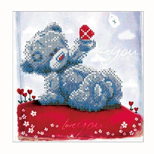 Mingfa.y_5D Diamond Art 5D Animal Diamant Kunst Malerei Kits Quadratisch für Erwachsene Kinder Mingfa Romantische Pudding Bär DIY Strass Stickerei eingefügt Kreuzstich Craft Hochzeit Geschenk