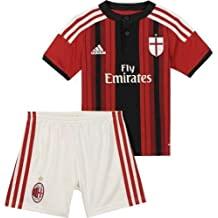 Mini Kit hogar Milan AC 2014–2015, Italie Série A, color rojo, tamaño 4/5a