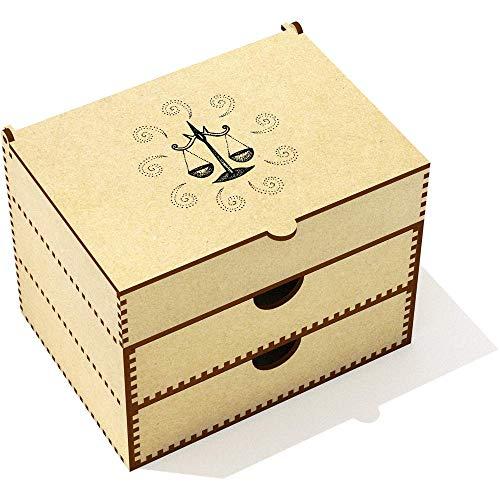 VC00004749      Diseño original por Yasmin Morris.   Esta hermosa caja es ideal para guardar maquillaje y joyería. La tapa se abre en un área de almacenamiento seccionada y hay dos gavetas para almacenar otros artículos.   Dimensiones:   Anch...