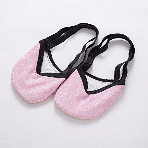 Erwachsene Tanzschuhe Fitness Praxis Spitze Weiche Halbsohlen Elastizität Bauch Ballett Toe Pad / Pack Von 3 / . Pink . (Kostüme Erwachsene Pink Plus)