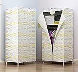N&B Tragbare Kinder kleiderschrank Kinder kommode Hängend Storage Rack Kleider Schrank Schrank Cube veranstalter formaldehydfreie Schlafzimmermöbel-D 150x70x45cm(59x28x18)