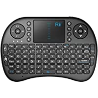 Rii i8BT Bluetooth Mini Wireless Keyboard with Touchpad Mouse Built-in Rechargeable Battery