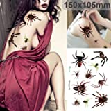 Halloween 3D Spider Paster Halloween Makeup Scars Terror - Best Reviews Guide