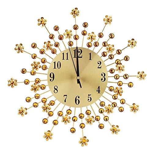 Ljlpropyh Uhren Wecker 1 stück 3D rustikale handgemachte wanduhr große Getriebe Holz Vintage Decor for Wohnzimmer büro bar (37 cm, Blume geformt) Wohnaccessoires DEK (Große Getriebe Mit Wanduhr)