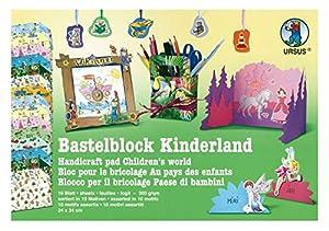 URSUS 12840099 Arte de papel 16hojas - Papel decorativo (Arte de papel, 16 hojas, Niño/niña, 300 g/m², 240 mm, 340 mm)