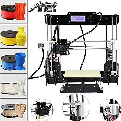 Anet A8 3D Printer DIY i3 Upgradest High Precision Reprap Prusa LCD Acrylic 3d Drucker