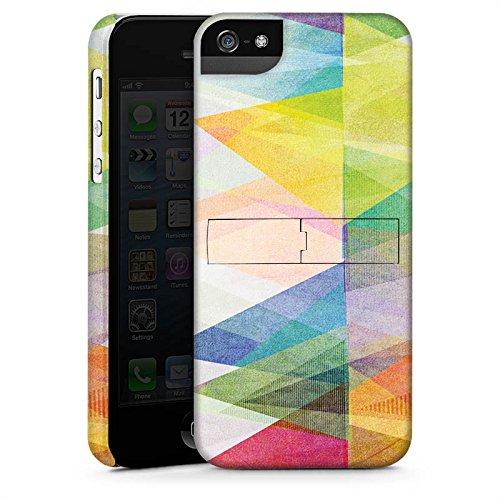 Apple iPhone 5s Housse Étui Protection Coque Motif Motif couleurs CasStandup blanc