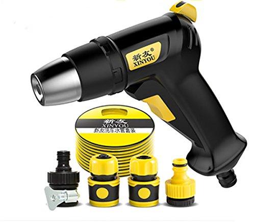 OOFS Hochdruckreiniger Keine Leckwasserspritzpistole 10M Frostschutz Weiche Wasserleitung Wasserpistole (Schwarz, direkt an den Wasserhahn angeschlossen) (Hochdruckreiniger, Frostschutz)