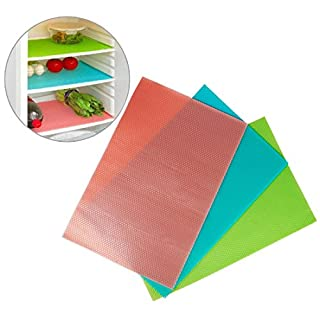 Andux Zone Can Be Cut Refrigerator Silicone Mats Pad set Waterproof Random Color (8 pcs) BXND-01
