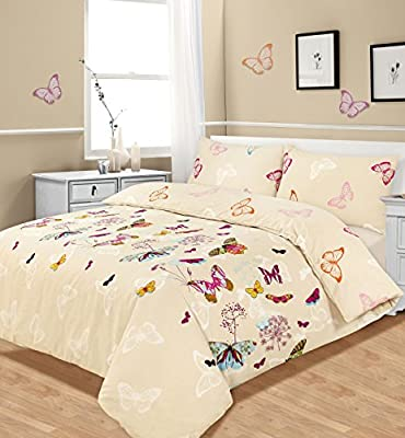 Double Bed Duvet / Quilt Cover Bedding Set Multi Butterfly Glaze by Ashley Mills produced by Ashley Mills - quick delivery from UK.