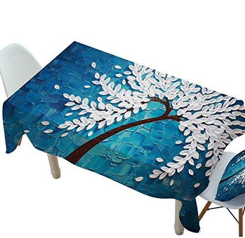 IMFFSE Wasserdichte Baumwolle Tischdecke Tuch Frische 3D Kreative Tischdecke Ins Stil Couchtisch TV Nordic Einweg Tischdecke,140 * 220Cm