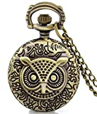 #9: LMP3Creation Bronze Classic Vintage Retro Antique Owl Chain Pocket - Necklace Watch (POW-0179)