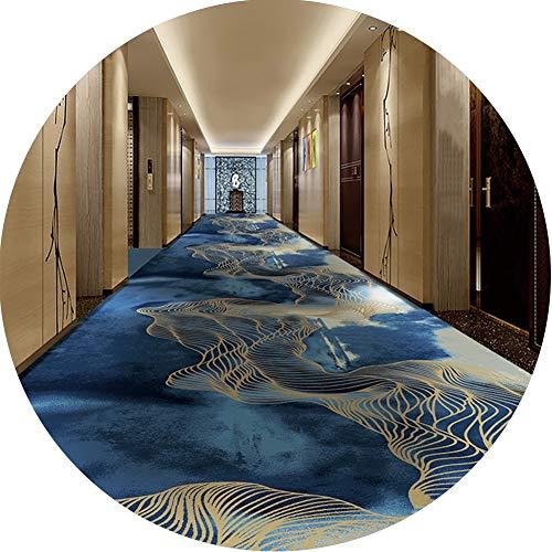 ZENGAI-Läufer Teppich Flur Läufer Teppich Flur Gang Gang Hotel Wohnzimmer Schallschutz Isolierung Dauerhaft Blaue Blumen (Color : A, Size : 1.2X1M)