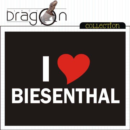 T-Shirt mit Städtenamen - i Love Biesenthal - Herren - unisex Schwarz
